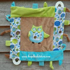 Boy Owl Security Blanket by Maison chic