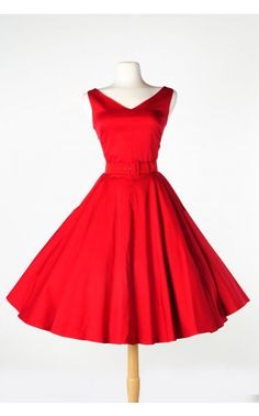 Pinup Couture- Havana Nights Dress in Red | Pinup Girl Clothing $130