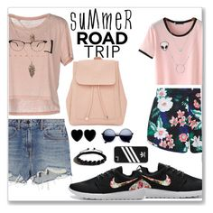 """""""Summer road trip"""" by kate34000 ❤ liked on Polyvore featuring ONLY, Alexander Wang, New Look, Dollydagger, Shamballa Jewels, adidas and roadtrip"""