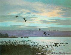 Peter Scott,  Scott6 Hunting Art, Duck Hunting, Waterfowl Hunting, Painting Studio, Renoir, Van Gogh, Galleries, Oil On Canvas, Fishing