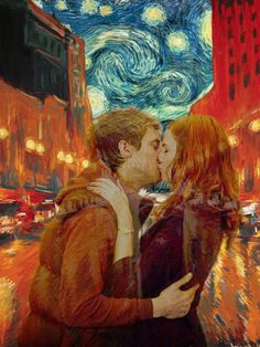 """professorspork: """" Amy/Rory - requested by rowofstars """"Valentine for Zepher, Age 12"""" Francette Cerulli The night before valentines are due, I take you to the movie about Vincent whose paintings you love. Too late I realize it's a mistake. You knew..."""
