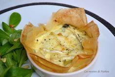 Les recettes de Nathou: Tartelettes en feuilles de brick aux poireaux et au brie