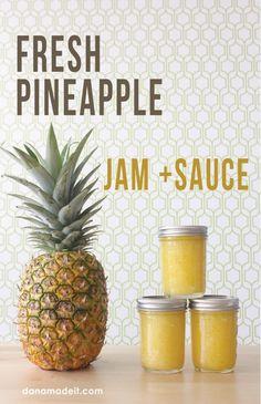 I LOVE pineapple jam!  Never found a recipe before, thank you Dana at danamadeit.com