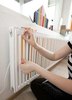 Ƹ̴Ӂ̴Ʒ L'idée déco du samedi : on décore le radiateur ! Ƹ̴Ӂ̴Ʒ