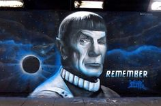 Spock tribute by Gnasher in London, 3/15 (LP)