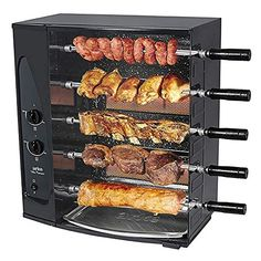 100% True Authentic Brazilian Bbq Grill Firm In Structure charcoal 4 Skewers Rotisserie System