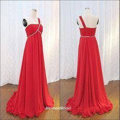 2013 One shoulder A line red prom dress  Long by MermaidBridal, $156.99