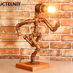 American vintage table lamp wood bar decoration personalized table lamp light source