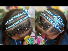 PEINADO INFANTIL/ DIADEMA CON ENCINTADO/ Peinados Rakel 60 - YouTube Kids Curly Hairstyles, Little Girl Hairstyles, Braided Hairstyles, Cornrows, Braids, Bobby Pins, Curly Hair Styles, Hair Accessories, Beauty