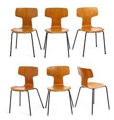 Arne Jacobsen. Par T stole model 3103 (2)  