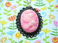 pink hello kitty cameo necklace!
