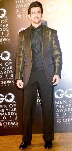 Hrithik Roshan at GQ Men of the Year Awards. #Bollywood #Fashion #Style