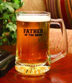 Amazon.com: Hortense B. Hewitt Wedding Accessories Glass Mug, Father of the Bride: Father Of The Bride Gifts: Kitchen & Dining