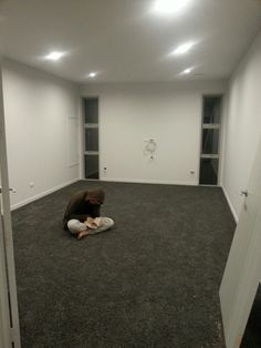 Media Room Resene Half Concrete Walls And Elephant Smart Strand Carpet