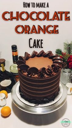 How to make a delicious (and super easy) Chocolate Orange Cake! Infused with optional orange and cream liqueurs, this recipe pairs delicate orange cake layers with rich chocolate orange frosting – easy to make and sure to be a crowd-pleaser! Cake Decorating Videos, Birthday Cake Decorating, Orange Frosting, Gourmet Cakes, Cake Flavors, Chocolate Orange Cakes, Chocolate Christmas Cake, Chocolate Cake Designs, Chocolate Cupcakes