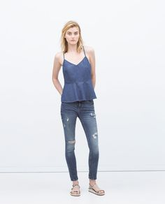 JEANS-Damaged-Jeans-WOMAN | ZARA United States