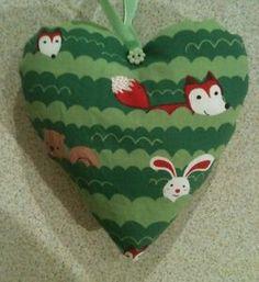 Woodland-Critters-Fox-Fabric-Heart-Lavender-Bag-Handmade