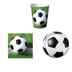 Sports Fanatic Soccer Party Supplies Set for 16 Plates Napkins and Cups >>> Check out this great product.Note:It is affiliate link to Amazon.