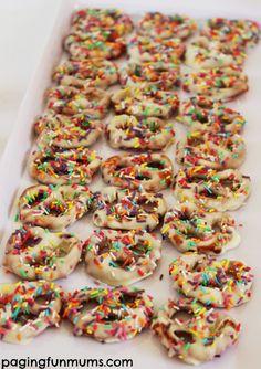 my little pony party sprinkle pretzels