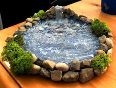 Add a Miniature Waterfall, Pond or River to your Fairy Garden Terrarium – Unique Terrarium Accessory – Handmade by Gypsy Raku Een miniatuur waterval vijver of rivier toevoegen aan uw Fairy Garden Houses, Gnome Garden, Garden Ponds, Fairies Garden, Diy Fairy House, Garden Waterfall, Small Waterfall, Fairy Furniture, Furniture Chairs