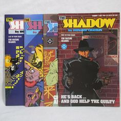 1986 DC The Shadow Comic Book Issues 1-4 VF NM 1st Printings Lot of 4