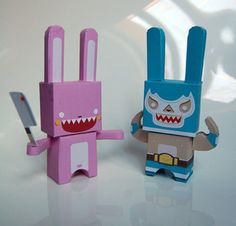 Mexican Rabbit  paper toys