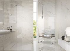 Sophisticated #bathroom made with our 1203 collection inspired by #marble.