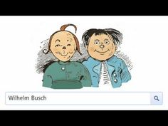 """Wilhelm Busch - Dieses war der erste Streich. Nein, es war der dritte Streich """"Schneider Böck"""" beim Google-Doodle am 15. April 2012"""