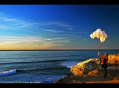 Goodbye 2013 and Hello 2014! Happy New Year! Sunset Cliffs in Point Loma, California #Travel #photography #NewYear #Seascape #Beach #Balloon #Model #Sunset