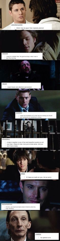 Supernatural text posts