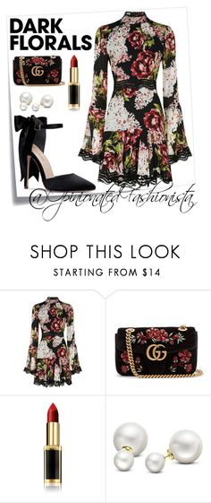 """""""#OOTD: Winter Florals"""" by opinionatedfashionista on Polyvore featuring Post-It, Nicholas, Gucci, L'Oréal Paris and Allurez Ootd Winter, Oras, Gucci, Polyvore, Shopping, Image, Fashion, Moda, Fashion Styles"""