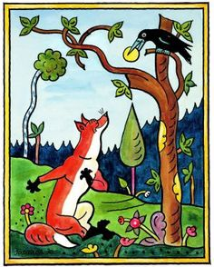 Josef Lada Josef Lada Hrusice - Prague) was a Czech painter, illustrator and writer.Illustration from the book, Russian fables. Painting For Kids, Art For Kids, Vintage Illustration Art, Book Illustrations, Fox Art, Creature Feature, Childrens Books, Illustrators, Fairy Tales