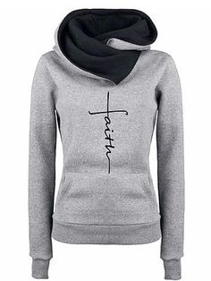 online shopping for Lanren Women Letter Print Long Sleeve Hooded Pullover Sweatshirt Pockets Fashion Hoodies from top store. See new offer for Lanren Women Letter Print Long Sleeve Hooded Pullover Sweatshirt Pockets Fashion Hoodies Hoodie Sweatshirts, Sweat Shirt, Winter Hoodies, Embroidered Sweatshirts, Cotton Hoodies, Long Hoodie, Types Of Sleeves, Casual, Long Sleeve