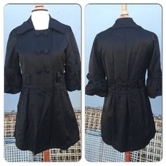 """T7 REDUCED 3/4 sleeve trench coat Beautiful bell 3/4"""" sleeve trench coat. This could be worn as a dress or as a coat. Wore it a couple of times, in excellent condition. Jackets & Coats Trench Coats"""