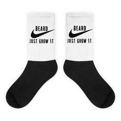 Just Grow it Beard Black foot socks