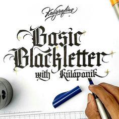 #infoworkshop . bulan April ini #KelasKaligrafina hadir kembali!  Untuk pertama kalinya kami mengadakan kelas kaligrafi mengunakan #BroadPen untuk menulis #Blackletter Hand.  Basic Blackletter with Eko Fitriono @kulapanik  Hari Sabtu 9 April 2016 mulai jam 14:00 - 18:00  Tempat : Kolega  @kolegaco  Jl. Suryo No. 50 Jakarta Biaya Rp 600Ribu sudah termasuk Manual Pilot Parallel Pen Alat Tulis &  FnB.  Peserta maksimal 10  orang.  Pendaftaran :  1. Kirim email ke kaligrafina@gmail.com 2. Tulis…