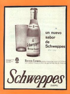 Yo fuí a EGB. Recuerdos de los años 60 y 70. Bitter Lemon, Drinking Water, Lemonade, Vodka Bottle, Advertising, Drinks, Nostalgia, Indian, History