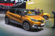 Facelifted Renault Captur on show in Geneva