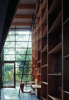 offset bookshelves