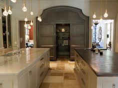 Kitchen with Island and Pantry - 99 Beautiful Kitchen Island Design Ideas on HGTV