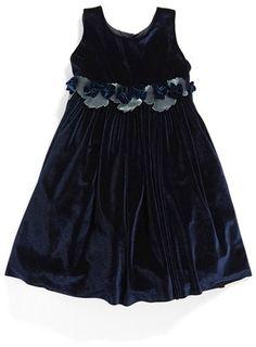 10c3db3d Girls Isabel Garreton Sleeveless Velvet Dress $174 At Nordstrom Velvety  roses & leaves adorn the