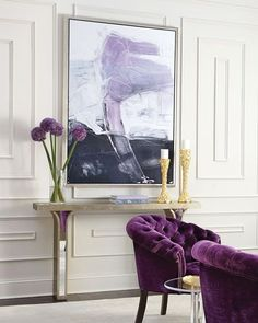 Shop Sarita Mirrored Console from Haute House at Horchow, where you'll find new lower shipping on hundreds of home furnishings and gifts. Purple Interior, Home Interior, Modern Interior Design, Interior Livingroom, Home Modern, Modern Decor, Modern Chairs, Modern Sofa, Rustic Modern