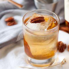 Bourbon Pecan Pie Cocktail @FoodBlogs