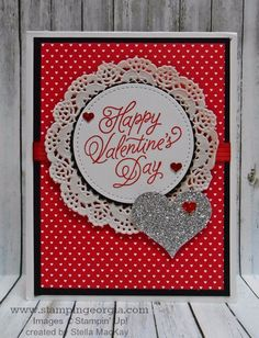 Valentines Card  YouTube  Stampin Up Card Inspiration