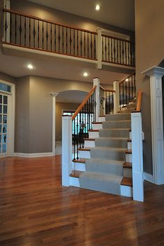 Best I Want To Redo Our Stairs With Carpet Running Up The Middle And Wood On The Sides Stairs 400 x 300