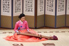 Korea Traditional Instruments. Gayageum(가야금)