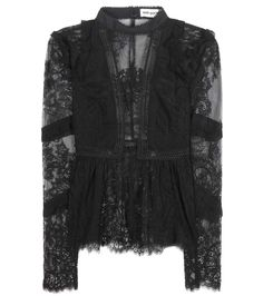 SELF-PORTRAIT Self-Portrait Lace Panel Blouse