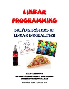 This packet is designed for students to complete after learning about solving systems of linear inequalities. The activity gives students a real-life perspective on systems of inequalities by using simple business models. Algebra Equations, Systems Of Equations, Maths Algebra, Algebra Activities, Math Resources, Math Strategies, Math Teacher, Math Classroom, Teacher Stuff