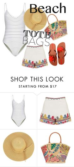 """""""untitled 169"""" by deboraaguirregoncalves on Polyvore featuring Topshop, Tory Burch, IPANEMA and beachtotes"""