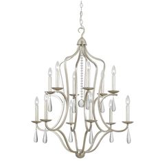 Buy the Crystorama Lighting Group Silver Leaf Direct. Shop for the Crystorama Lighting Group Silver Leaf Manning 12 Light Wide Chandelier with Optical Crystals and save. Candle Chandelier, Candelabra Bulbs, Chandelier Lighting, Chandelier Ideas, Bronze Chandelier, Crystal Chandeliers, Contemporary Chandelier, Transitional Chandeliers, Crystal Design